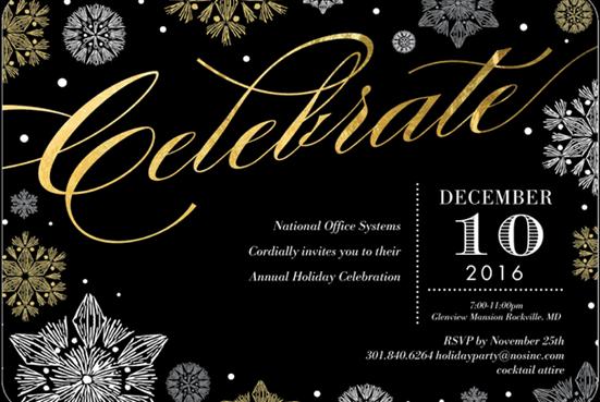 2016 holiday invite