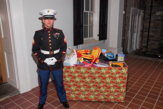 Maria with Toys for Tots donation