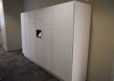 White wall storage