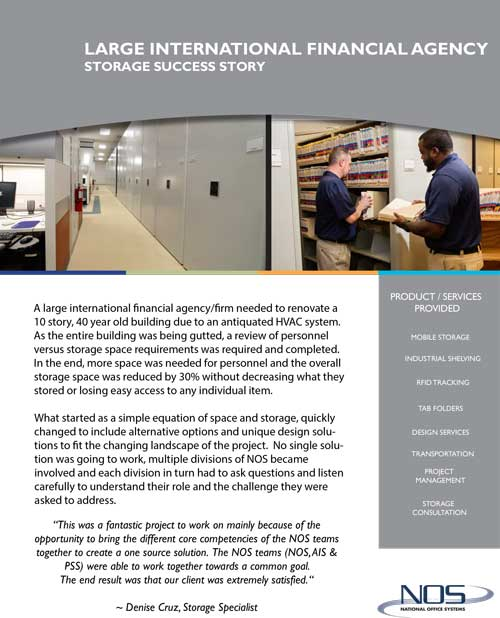 Financial agency success story