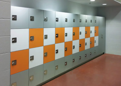 multicolored lockers