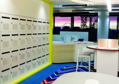 Trendy office with lockers